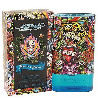 Ed Hardy Hearts & Daggers Eau De Toilette Spray von Christian Audigier 3.4 oz Eau De Toilette Spray