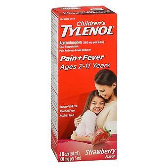 Tylenol children's pain + fever oral suspension, strawberry, 4 oz
