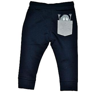 Jogging pants baby with monster, Navy blue, 68 cl