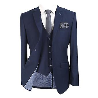 Designer herre og & Drenge Matchende Slim Fit Navy Blue Suit