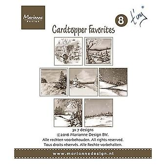 Marianne Design Card Toppers Favorites - Tiny 2 CT1508