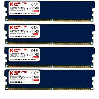 Komputerbay 8GB (4x 2GB) DDR2 800MHz PC2-6300 6400 RAM (240 pins) DIMM 5-5-5-18 Desktop memory with heat sinks