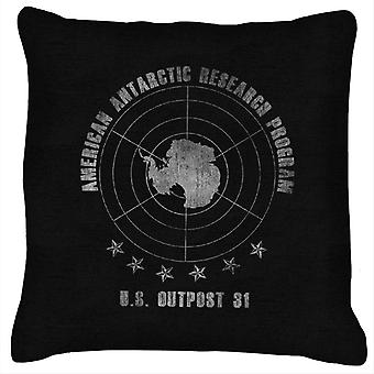 The Thing American Antarctic Research Program Cushion
