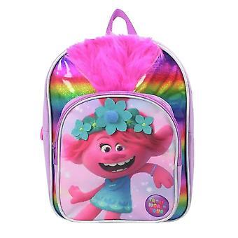 Children's Trolls World Tour Queen Poppy 3D Hair Backpack
