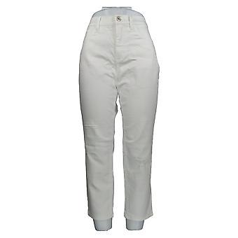 Denim & Co. Damen's Petite Jeans Classic Denim Weiß A304477 #2