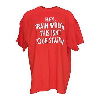GILDAN Femmes-apos;s Manches courtes Coton Imprimé T-shirt True Red