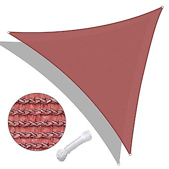 Yescom 20Ft 95% UV Block Triangle Sun Shade Sail Canopy Outdoor Patio Pool Porch Garden Yard Beach Carport Cover Net