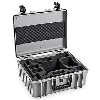 B&W Copter Case Type 6000 voor DJI Phantom 4 / 4 Pro / 4 Pro Plus / 4 Geavanceerd, grijs met foam insert