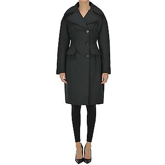 Moncler Ezgl059078 Women's Black Polyester Coat