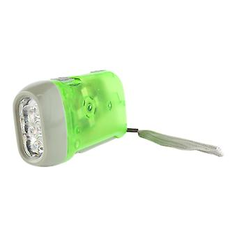 Hand-driven LED flashlight-Green