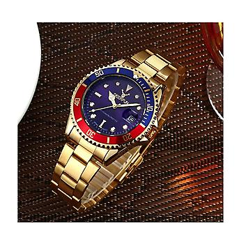 Genuine Deerfun Homage Watch Blue Red Gold Date Watches Top Quality Oyster