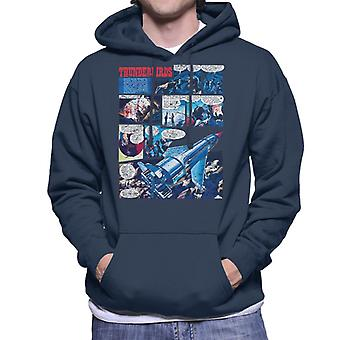 Thunderbirds Comic Page Men's Hooded Sweatshirt