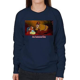 An American Tail Papa Talking To Tanya Women's Sweatshirt