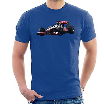 Motorsport Bilder Hamilton McLaren MP4 26 Leder Vettel Män & apos, s T-shirt