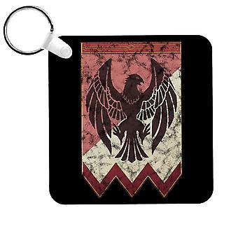 Schwarze Adler Logo Feuer Emblem Drei Haus Schlüsselanhänger