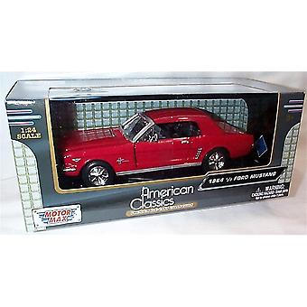 MotorMax American Classics  - 1964 1/2 Ford Mustang Red - Burgundy  1:24
