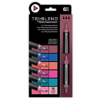 Spectrum Noir TriBlend Marker Sartschattierungen (6Stk.) (SN-TBLE-JESH6)