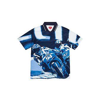 Supreme Racing Soccer Jersey Navy - Kleidung