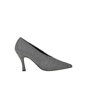 Dries Van Noten Ezgl093172 Women's Grey Wool Pumps