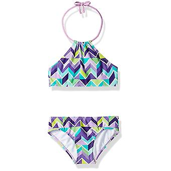 Kanu Surf Big Girls' Mahina Beach Sport Halter Bikini 2-Piece Swimsuit, Ruby ...