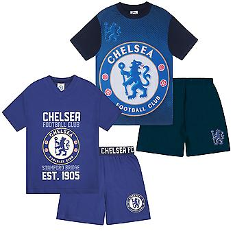 Chelsea FC Boys Pyjamas Short Kids OFFICIAL Football Gift