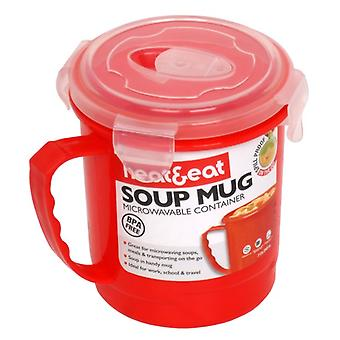Heat & Eat Microwave Mug, Red