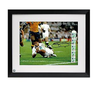 Jason Robinson ondertekend Engeland Rugby Foto: World Cup Final Try. Framed