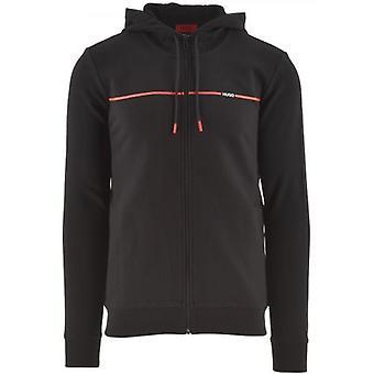 HUGO Black Dapie Hooded Sweatshirt