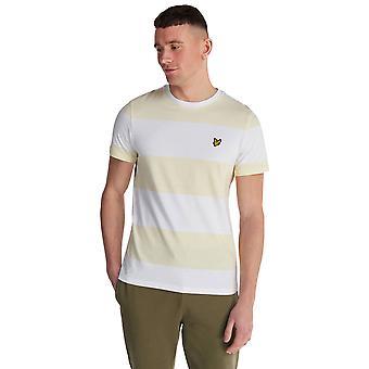 Lyle & Scott Wide Stripe T-Shirt - Buttercreme