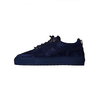 Mason Garments Navy Firenze Suede Sneaker