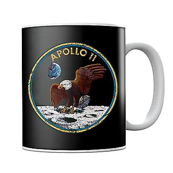 NASA Apollo 11 Mission Badge Distressed Mug