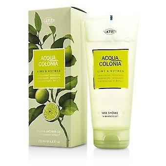 Acqua Colonia Lime & Nutmeg Aroma Shower Gel 200ml or 6.8oz