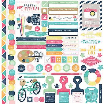 "Creative Agenda Cardstock Stickers 12""X12""-Element"