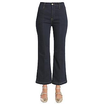 Frame Laft712foxd Women's Black Cotton Jeans
