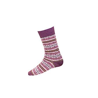 House of Cheviot Gents Fairisle Short Socks ~ Thistle