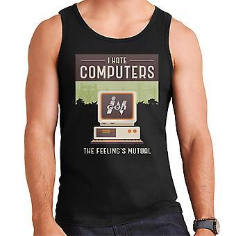 Jurassic Park Ingen I Hate Computers The Feelings Mutual Men's Vest