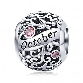 Sterling Silver Charm Birthday Month October - 6885