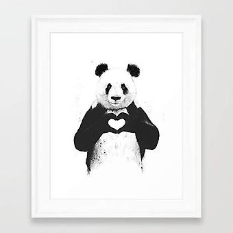 All You Need Is Love Panda Frame