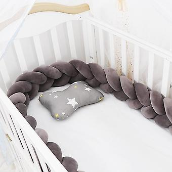 Baby Bed Bumper Protector/infant Cradle Pillow Cushion Braid Knot