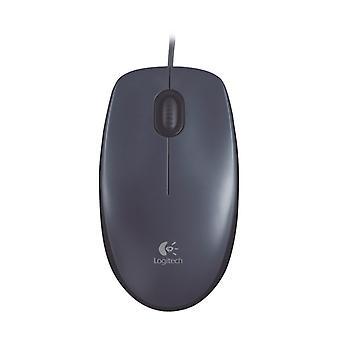 Logitech M90 USB-Schnittstelle 3-Tasten Bilateral Symmetry 1000DPI Kabelgebundene optische Maus