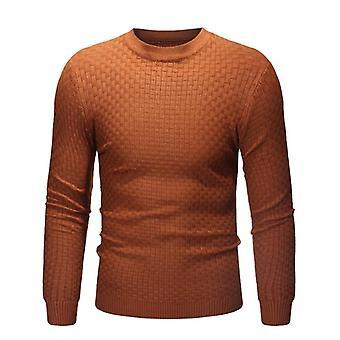 Winter Warm Turtleneck Sweater, Men Tricot Pullovers Male Outwear, Slim Knitted