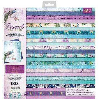 Crafter's Companion Peacock Collection 12x12 Inch Paper Pad