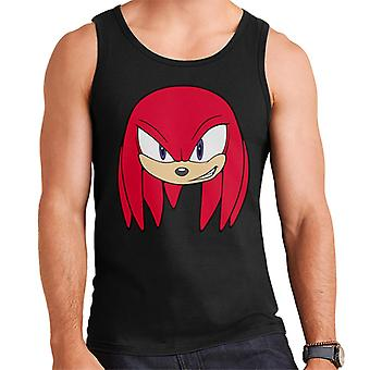 Sonic The Hedgehog Knuckles The Echidna Smiling Character Head Gilet uomo