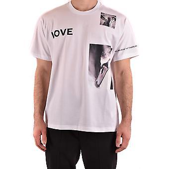 Burberry Ezbc001334 Men's White Cotton T-shirt