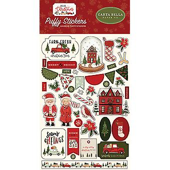 Carta Bella Hello Christmas Puffy Stickers