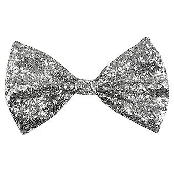 Boland 53111 adult glitter bow tie - silver, one size