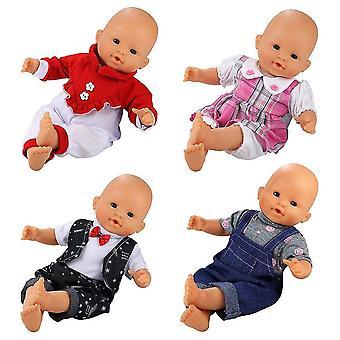 Miunana 4 pcs mode kleding en broek voor 14 -16 inch baby poppen, voor pasgeboren poppen, voor onze gener
