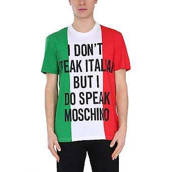 Moschino 072220401888 Mænd's Multicolor Cotton T-shirt