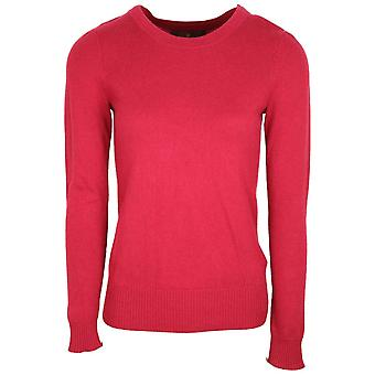 Fenn Wright Manson Fuchsia Pink Cotton & Cashmere Bland Long Sleeve Fine Knit Jumper