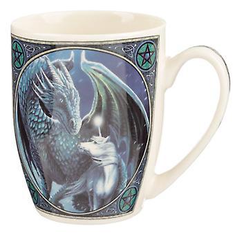 Lisa parker caneca de porcelana - protetor do dragão magick